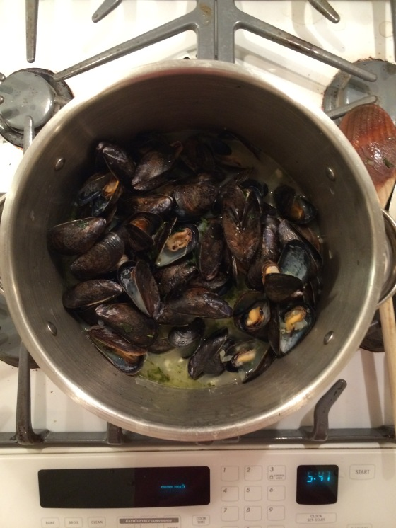 It is important that you remove any mussels that have not opened.