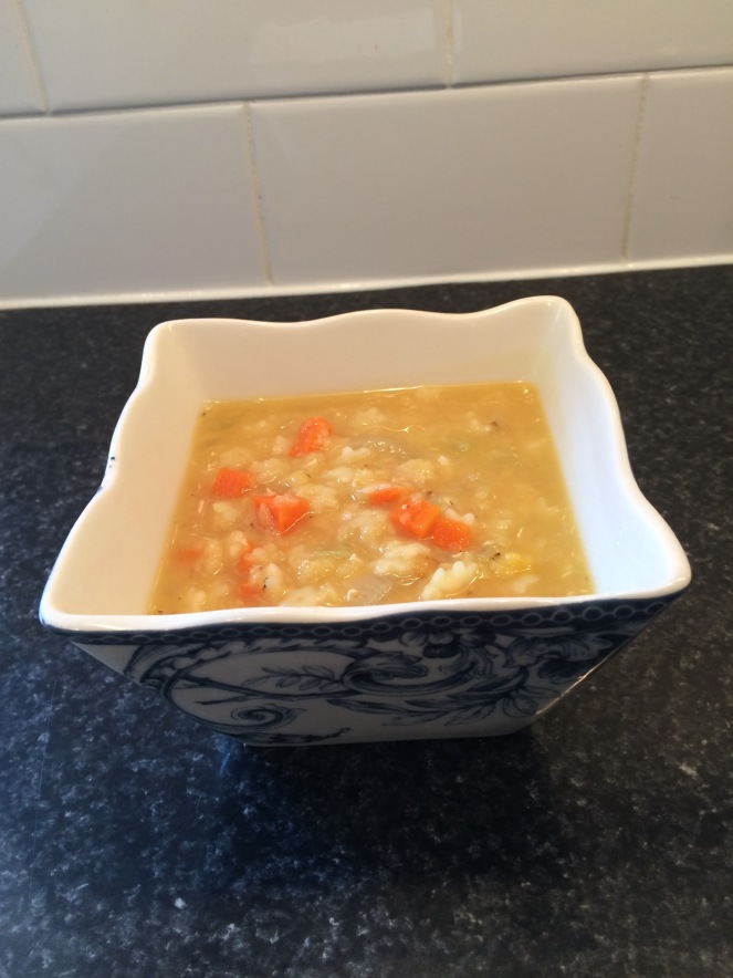 This lentil soup is ready in under 30 minutes. A lunchtime favourite of mine.