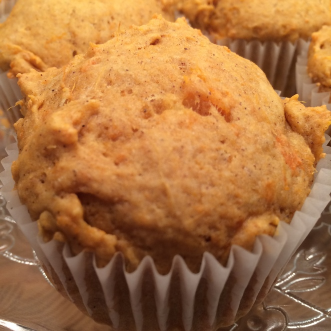 Sweet potato and maple syrup muffins